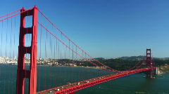 Golden Gate Bridge traffic Stock Footage