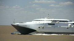 Modern passenger ship Stock Footage