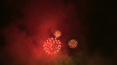 HD1080i Spectacular Fireworks Display in High Definition Stock Footage