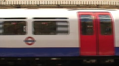 Underground Tube Train London Stock Footage