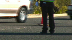 Tour de Tucson The legs of a traffic cop... Stock Footage