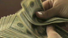 Counting Hundreds Close-Up - stock footage