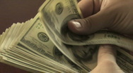 Counting Hundreds Close-Up Stock Footage