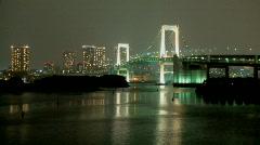 Tokyo rainbow bridge Stock Footage