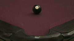 Eight Ball, Corner Pocket Stock Footage