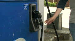 Filling Car With Gas 1 - stock footage