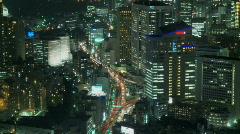 Tokyo roppongi skyline wide shot Stock Footage