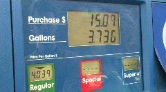 Gas Price Climbing 1 Stock Footage