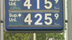 Gas Station Price Sign - stock footage