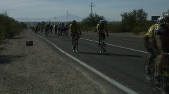 Tour de Tucson - Bicycle race in Tucson Stock Footage