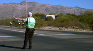 Stock Video Footage of Tour de Tucson Traffic control during a bicycle race.