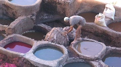 Moroccan Tanneries Stock Footage