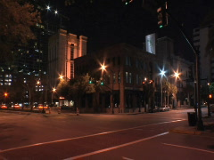 Intersection at Night Stock Footage