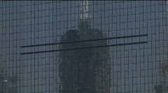 Reflection in the side of Shanghai World Financial Centre Stock Footage