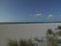 Fort De Soto Beach Wide Stock Footage