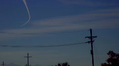 Contrail in time lapse Stock Footage