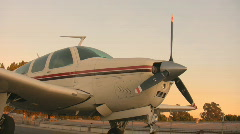AIRPLANE PROP SPIN UP RIGHT-EYE - stock footage