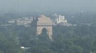 India Gate, Delhi Stock Footage