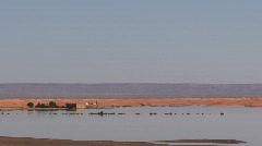 Erg Chebbi Desert Oasis Stock Footage