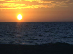 Beach Sunset Stock Footage