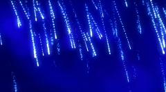 Blue fantastic rain 2 Stock Footage