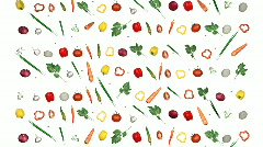Vegetables background 001 - stock footage