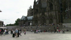HD1080i Cologne main station city place Stock Footage