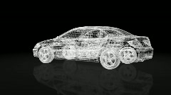 Car xray wire frame,looping Stock Footage