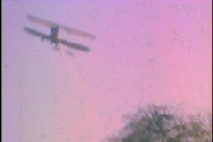 Vintage Biplane Flies Overhead Flight Aircraft  Stock Footage