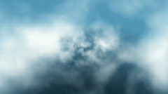 Clouds fly trough loop - stock footage
