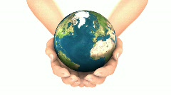 EARTH IN HANDS LOOP Stock Footage