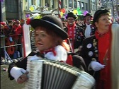 Cologne carnival people. Happy time. Fifth season. Stock Footage