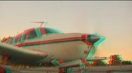 Stock Video Footage of POV BOARD PLANE stereo 3D Anaglyph