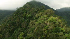 Flying over mountain ridge in the Philippines 2 - stock footage