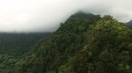 Stock Video Footage of Flying over mountain ridge in the Philippines 2