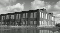 Abandoned Factory. Timelapse. Blk&white. - stock footage