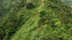 Flying over mountain ridge in the Philippines Stock Footage