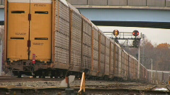 Cargo Train Departing Stock Footage