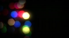 Christmas Lights - Left Justified Stock Footage