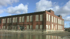 Abandoned Factory. Timelapse. Stock Footage