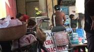 Vietnam street market Stock Footage