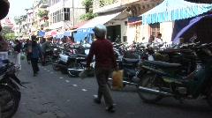 Parked motorbikes, Vietnam Stock Footage