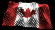 Glowing Flag of Canada - Canada 05 (HD) Stock Footage