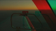Stock Video Footage of FLY PAST PALOS VERDES stereo 3D Anaglyph
