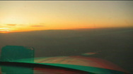 TURN AWAY FROM SUNSET stereo 3D Anaglyph Stock Footage