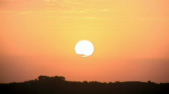 The Perfect Sunset - Orange Sky Stock Footage