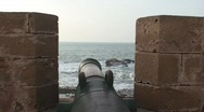Cannon at the Sea Stock Footage
