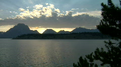 Grand Tetons Heavenly Time Lapse Sunset Stock Footage