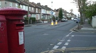 Postbox and Street in London Stock Footage