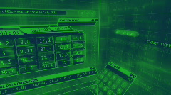 3D futuristic spreadsheet Stock Footage